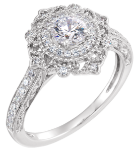 2018-millennial-engagement-trends-diamond-halo-vintage-ring-276x300
