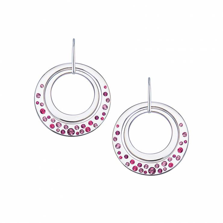 Sterling silver earrings with Swarovski crystals, rhodium plated.
