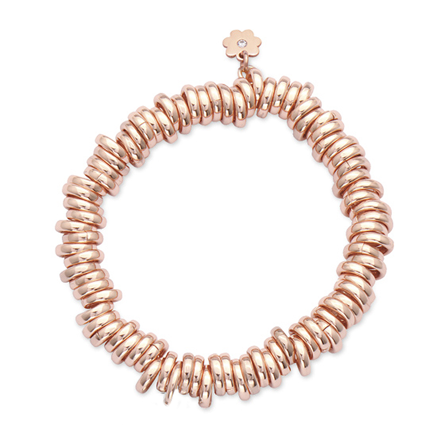 Sterling silver bracelet or a charm carrier, rose gold plated.