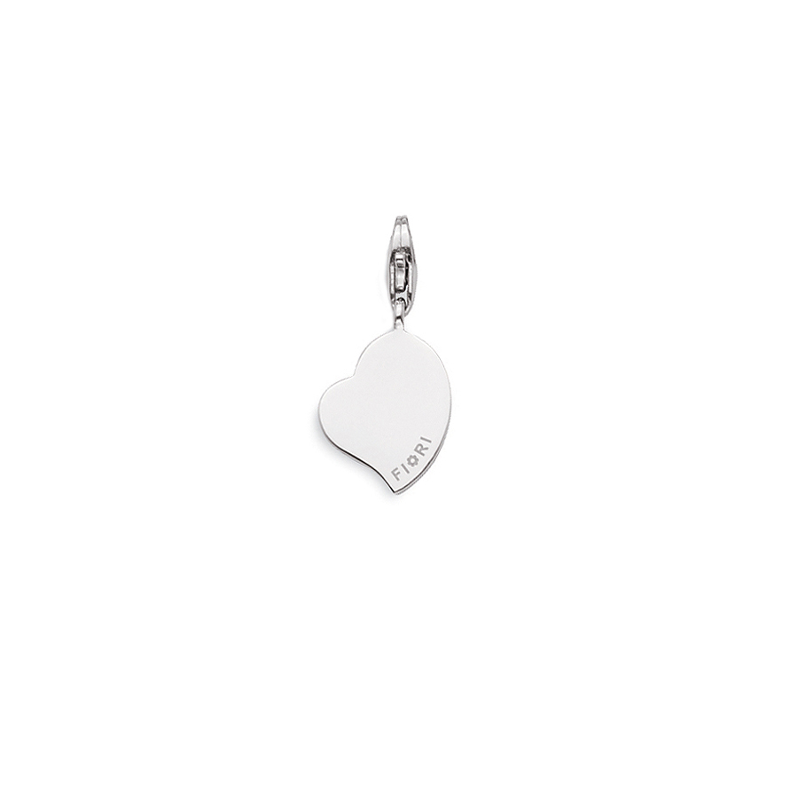 Sterling silver charm, rhodium plated.